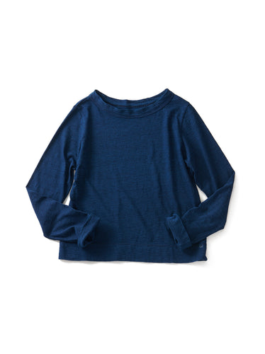 Indigo Zimba Tenjiku Square Long Sleeve T-shirt in Indigo