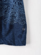 Indigo Paisley Dot Print Cotton Big T-Shirt
