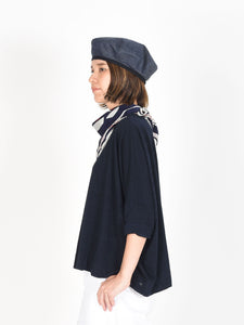 Indigo Zimba Cotton Big T-shirt