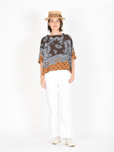 Paisley Dot Print Cotton Big T-Shirt