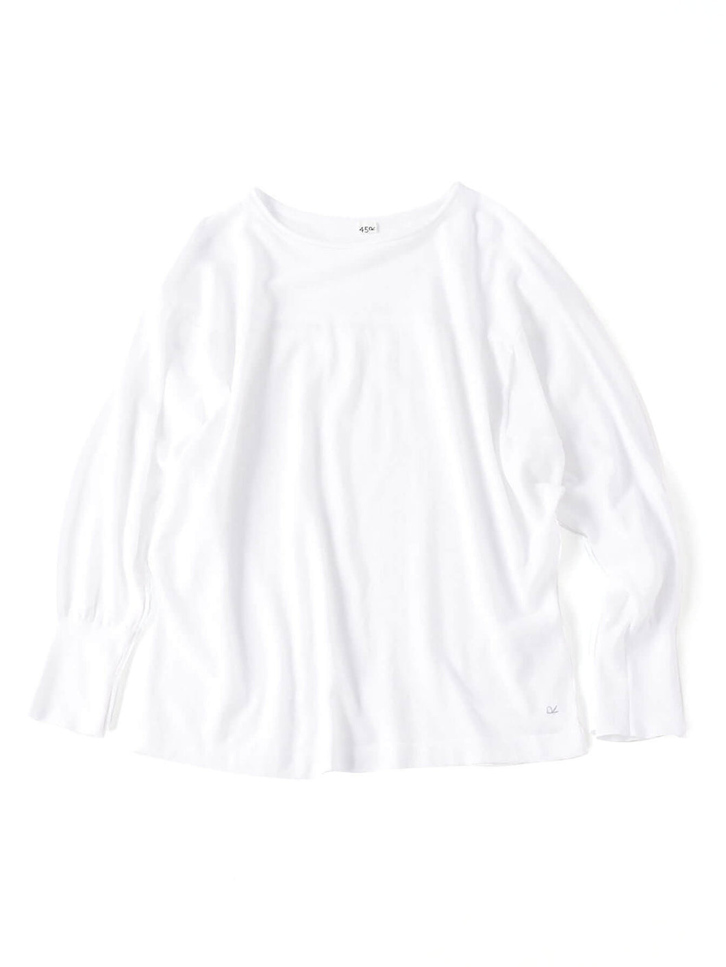 Ice Cotton Amefuto Long Sleeve T-shirt in white