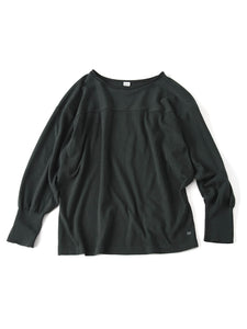 Ice Cotton Amefuto Long Sleeve T-shirt in green