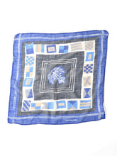 Gauze Cotton Flag Print Bandana in blue