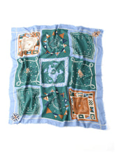 Supima Organic Cotton Flag Print Stole in green
