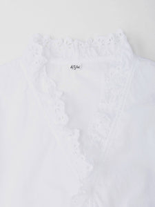Tapet Cutwork Cotton Blouse