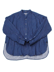 Indigo Double Woven Cotton 908 Goo-Goo Shirt in indigo
