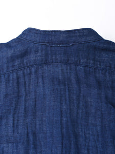 Indigo Double Woven Cotton 908 Goo-Goo Shirt