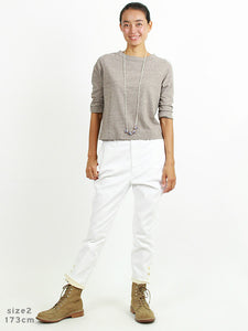 Women's Double Cloth Cotton Stretch Umahime Pants