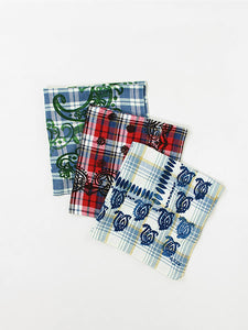 Indian Flannel Check Bandana