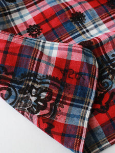 Indian Flannel Check Bandanna