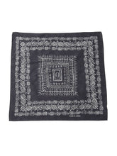 Selvedge Standard Cotton Bandana in charcoal