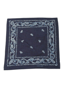 Indigo Selvedge Standard Cotton Bandana in indigo