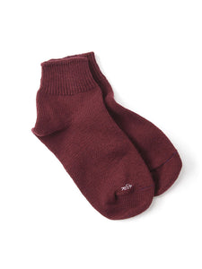 After Dye 45 Star Cotton Low Gauge Socks in dark red