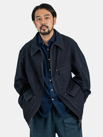 Indigo Okome Duck 908 Over Jacket
