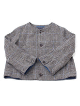 Cotton Tweed Akiya Bolero in green glen check