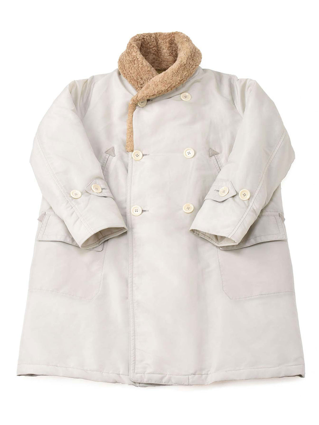 Nylon x Boa Coat in white