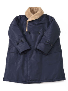 Nylon x Boa Coat in navy