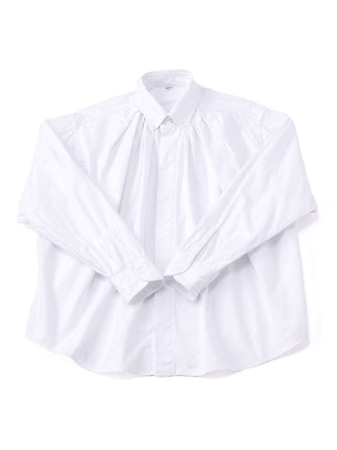 Zimba Oxford Cotton Tuck Shirt in white