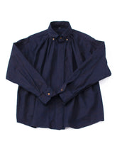 Indigo Zimba Oxford Cotton Tuck Shirt in indigo