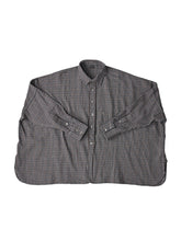 Indian Cotton Thin Flannel Big Shirt in grey
