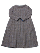 Cotton Tweed Dress in green glen check