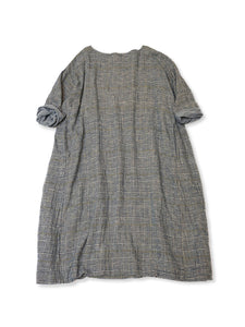 Double Woven Flannel Umahiko Dress in Glen Check