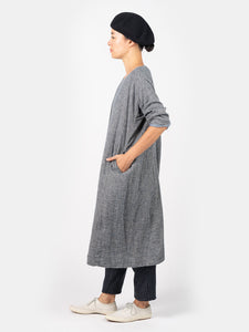 Double Woven Flannel 3/4 Sleeve Dress