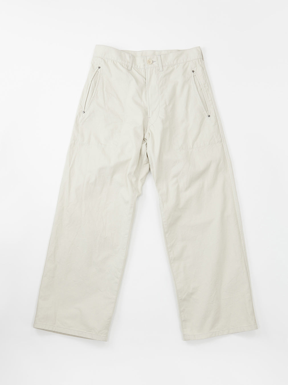 Okome Duck 908 Worker Pants in White
