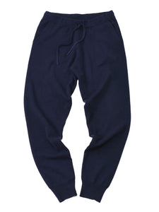 Camelliya Rib Sweat Pants in navy