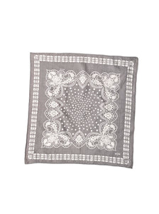 Indian Cotton Flannel Bandana in grey
