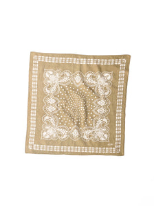 Indian Cotton Flannel Bandana in olive