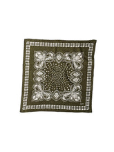 Indian Cotton Flannel Bandana in  green