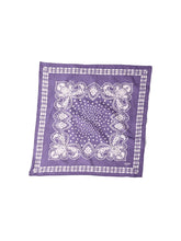 Indian Cotton Flannel Bandana in purple navy
