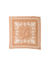 Indian Cotton Flannel Bandana in camel