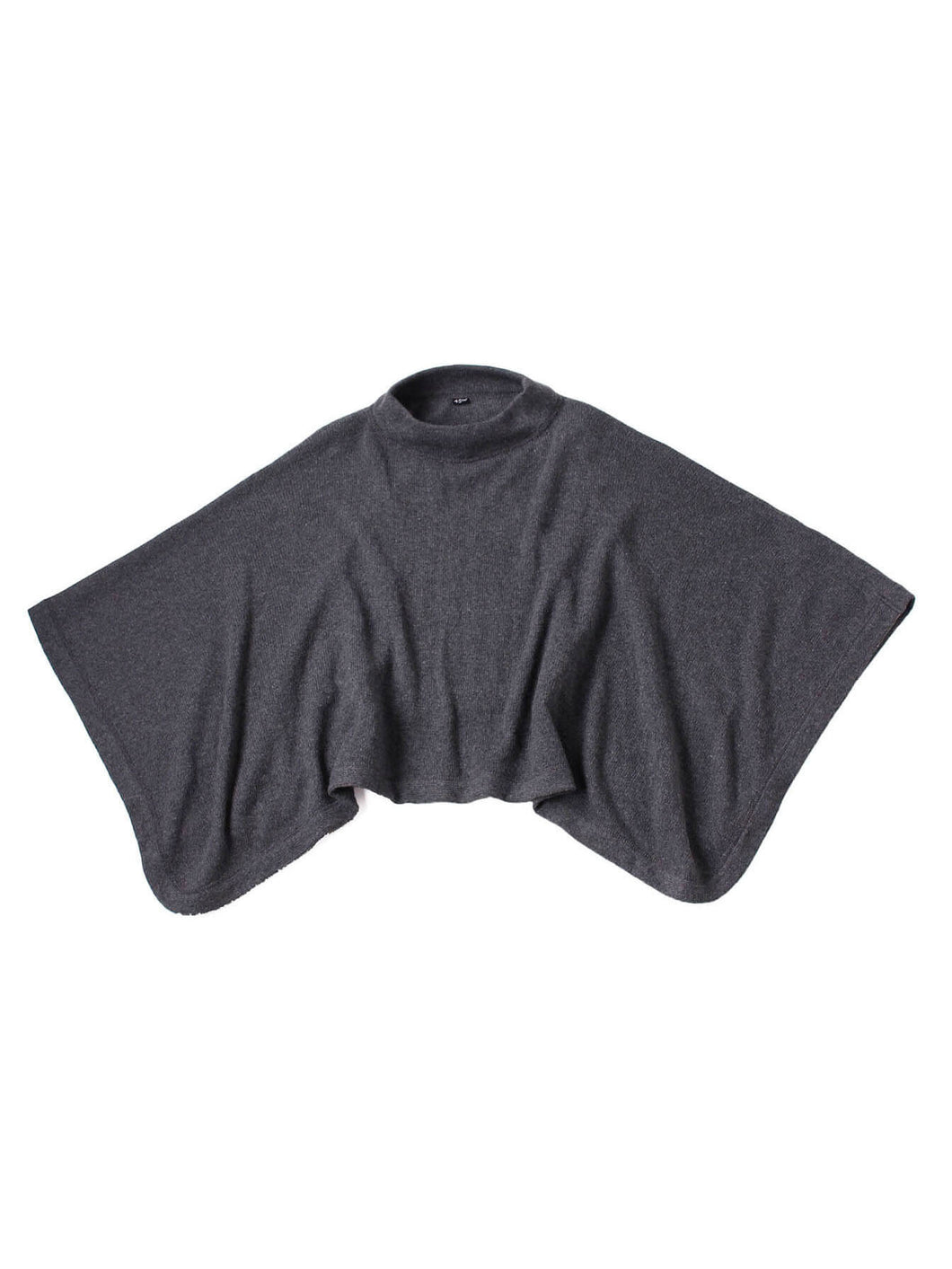 Eco Cashmere Mock Neck Poncho in grey