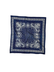 Ai Indian Cotton Flannel Bandana in indigo