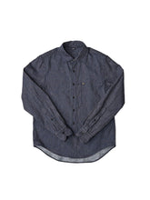 Indigo Double Woven Cotton 908 Regular Shirt in indigo check