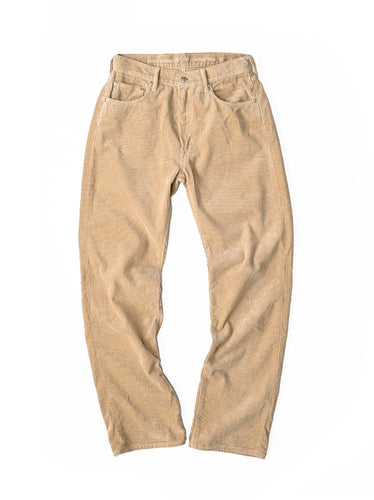 Cotton Corduroy Front River Pants in beige