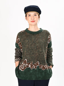 Float Wool Knit & Sew Bandana Sweater