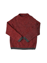 Cotton Shetland Wool 908 Unisex Sweater in red