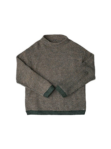 Cotton Shetland Wool 908 Unisex Sweater in brown