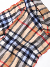 Indian Merino Wool Cashmere Big Tartan Muffler