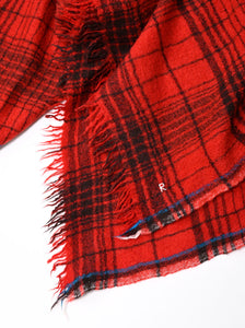 Indian Merino Wool Cashmere Big Tartan Stole