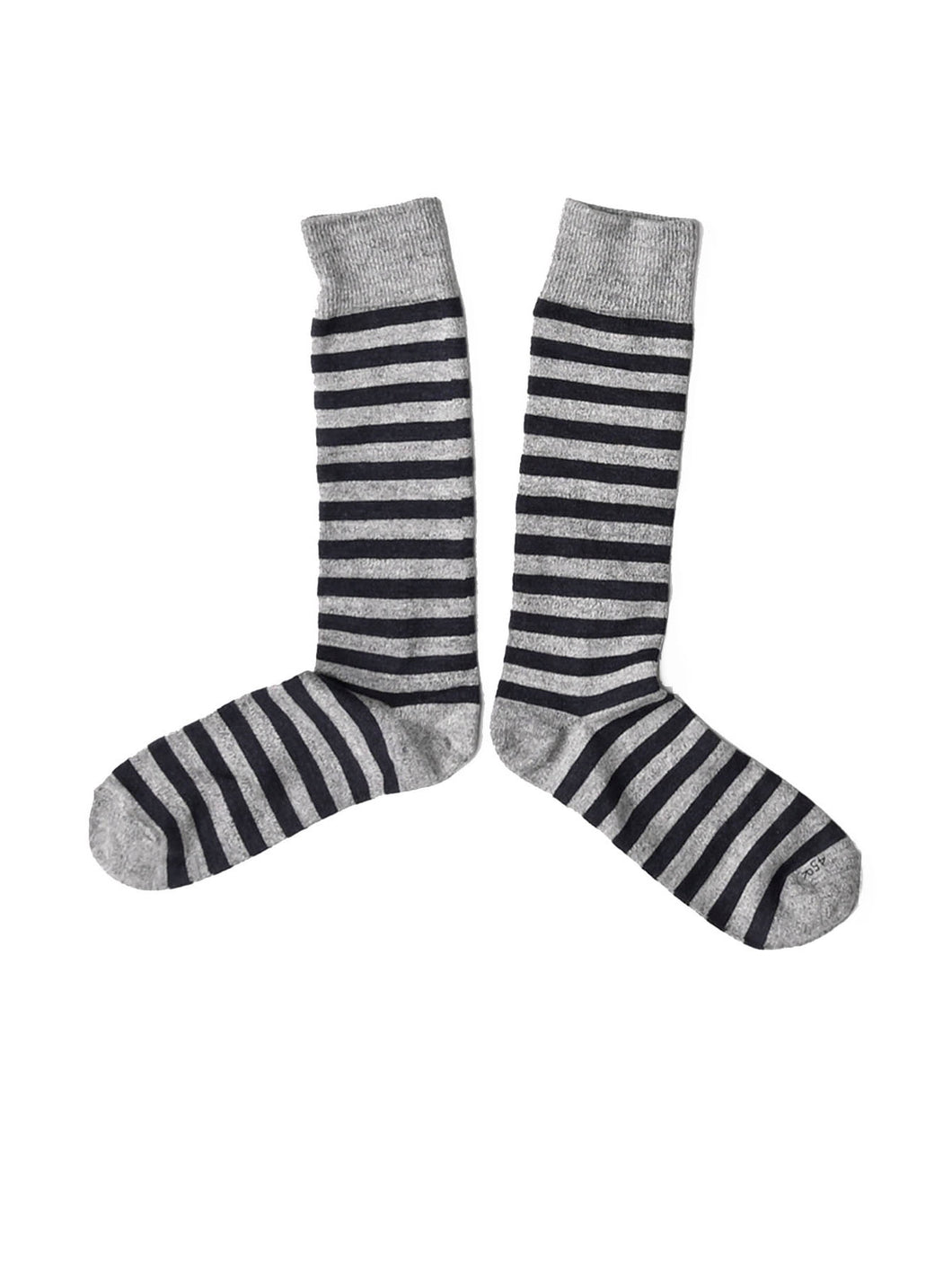 Border Cotton Socks in grey