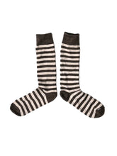 Border Cotton Socks in khaki