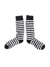 Border Cotton Socks in navy