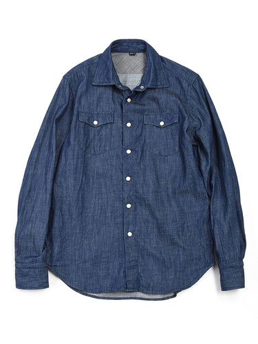 Goma Denim 908 Eastern Shirt in Indigo