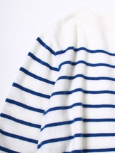 Basque Border Knit Marine Dress