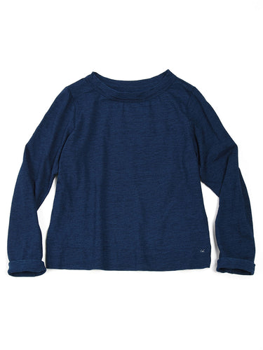 Indigo Square T-shirt in Indigo Blue