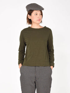 Women's Cotton Square Long Sleeve T-shirt
